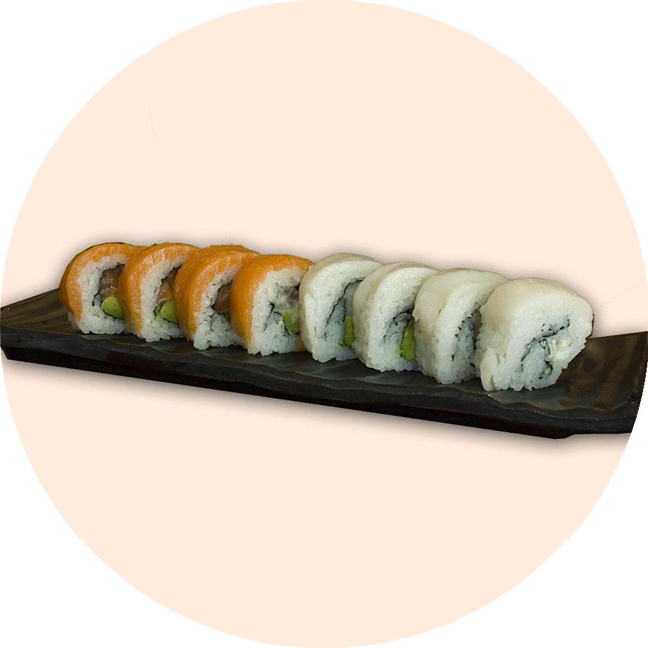 Blanco & Naranja Roll