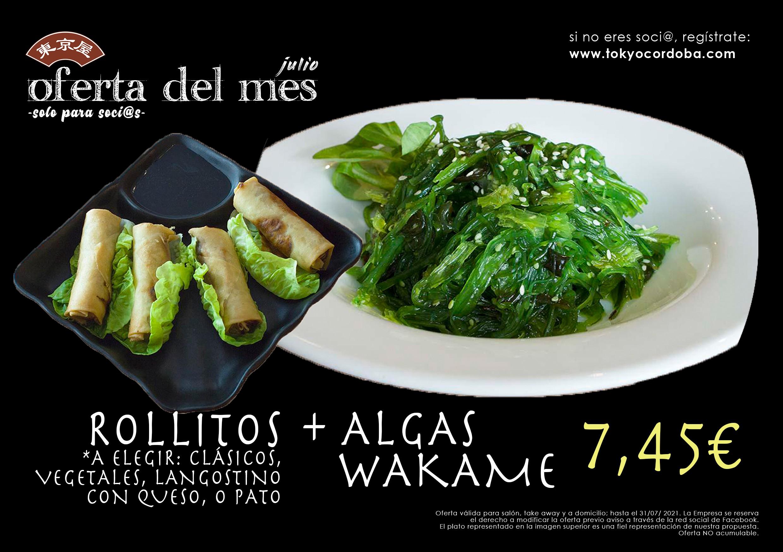 Wakame y Rollitos Vegetales