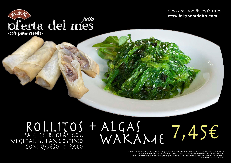 Wakame y Rollitos de Pato